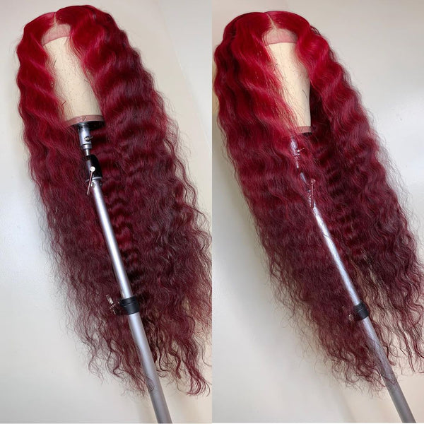 Scarlet Color dark red wig