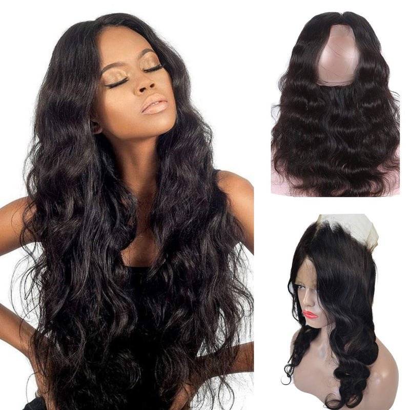360 lace frontal black