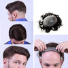 Image of European Virgin Human Hair Black Thin Skin Base Man Toupee V-LOOP