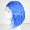 Image of Peruvian Hair Light Blue Color Straight Lace Front Bob Wig