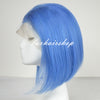 Image of Peruvian Hair Light Blue Color Fashion Straight Lace Front Bob Wig