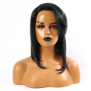 Peruvian Hair Fashion Straight Lace Front Bob Wig With Bangs