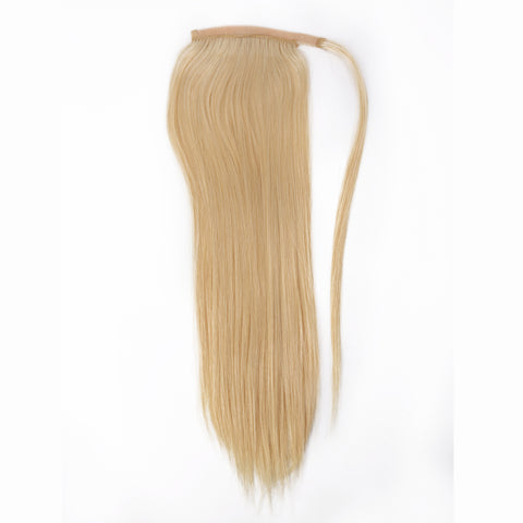 Peruvian Human Hair Blond Color Straight Pony Tail