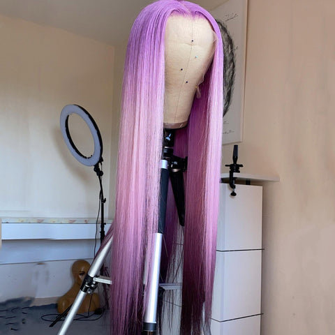 Gradient purple stw wig