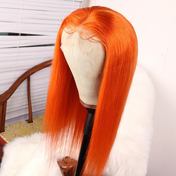 Lace front Bright Orange Wig