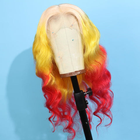 three color wig