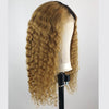 Image of Peruvian Hair Blond With Black Root Color Water Wavy Full Lace Wig
