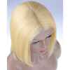 Image of Peruvian Hair Blond Color Straight Lace Front Bob Wig