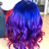 Image of Peruvian Hair Blue And Purple And Red Ombre Color Fashion Body Wavy Full Lace Wig