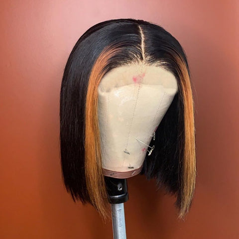 Black With Highlights BOB WIG