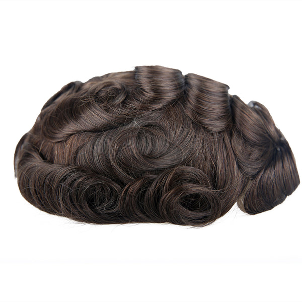 European Virgin Human Hair Austra Base Man Toupee