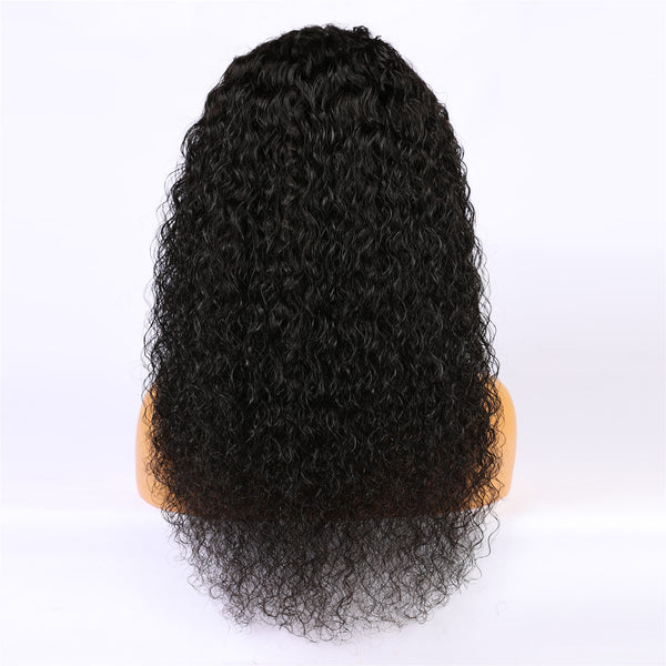 Peruvian Hair Curly Lace Front Wig Natural Color