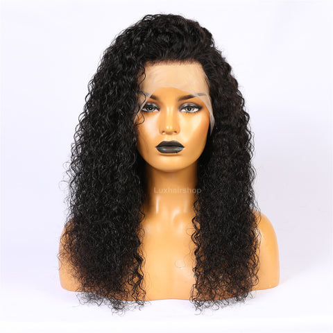 Curly Natural Color Full Lace Wig