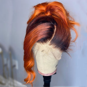 Ginger With Black Root wig
