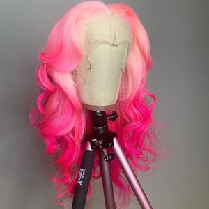 Gradient Color Pink Fuchsia natural wave