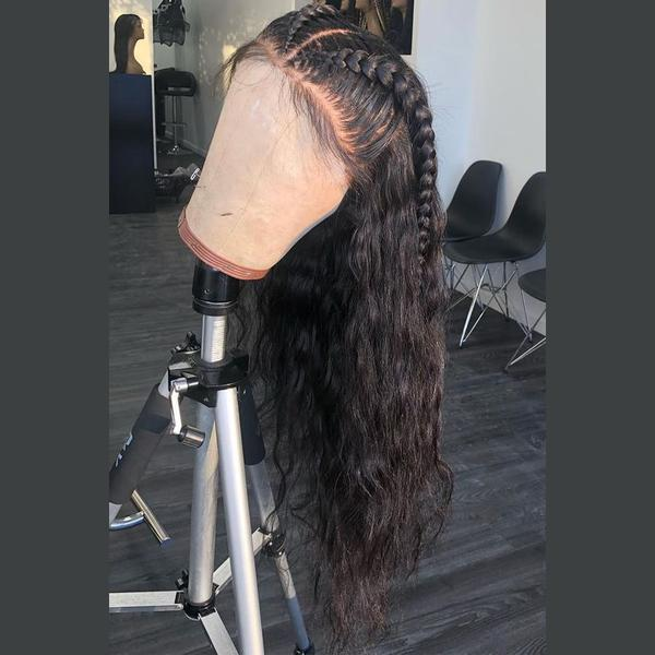 slight wave black wig