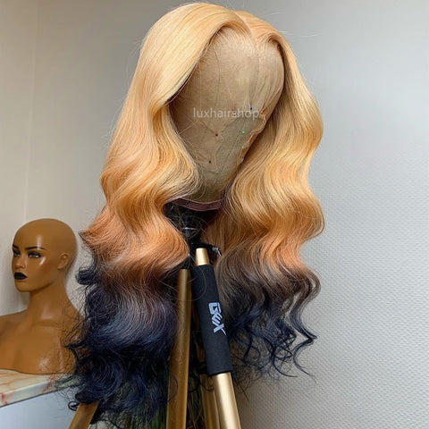 Gradient Color Dark Blue With Blonde