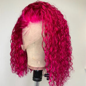 Fuchsia Color curly bob