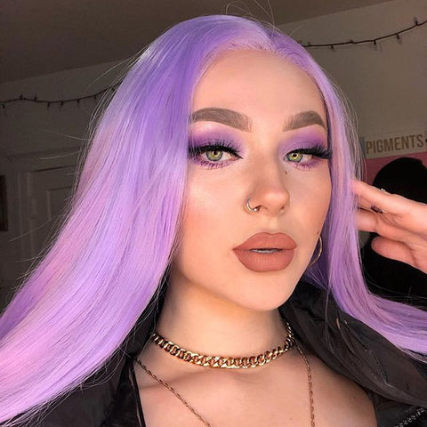 Light Purple Violet wig