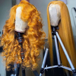 Ginger Color Fashion Style Lace Front Wig
