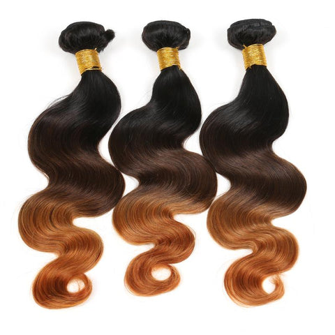 Black And Brown Ombre Color Weft