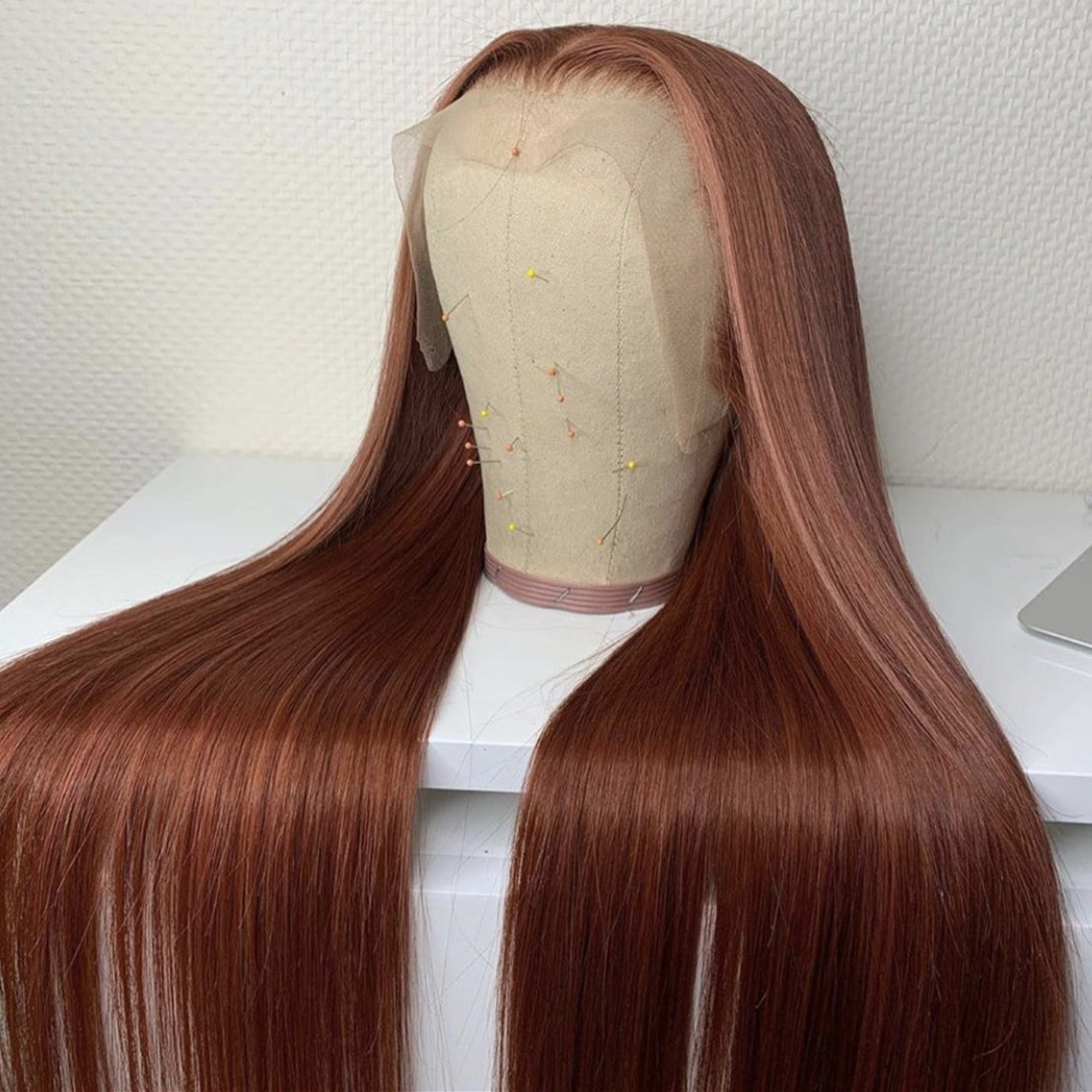 Brazilian Hair Brown Hair Lace Front Wig Fashion Straight Hair