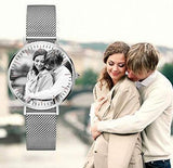 Couple Photo Watch customizez Wristwatches for couple Photo watch BANFIY USA black and white