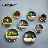 Creative Iron Flower Pot Wall Vase Home Living Room Decoration home decoration BANFIY USA