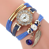 Elite Women Watch Bracelet Quartz Luxury Flower Design women watch BANFIY USA Blue