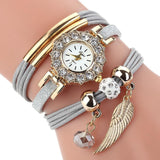 Elite Women Watch Bracelet Quartz Luxury Flower Design women watch BANFIY USA Gray