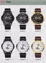 Fashion Wrist Watch For Men Brown Leather Strap Men Watch BANFIY USA