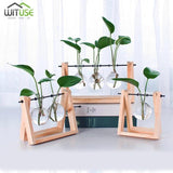 Flower Pot Tabletop Wooden Vase For Home Office Wedding Decor home decoration BANFIY USA Natural 3pcs