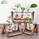 Flower Pot Tabletop Wooden Vase For Home Office Wedding Decor home decoration BANFIY USA Retro 3pcs