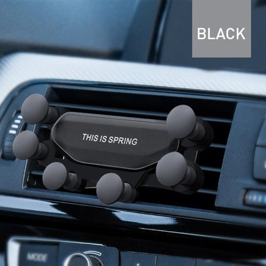Gravity Car Phone Holder Mount Mobile Phone Accessories BANFIY USA Black