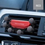 Gravity Car Phone Holder Mount Mobile Phone Accessories BANFIY USA Red