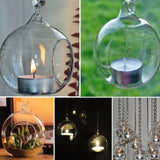 Hanging Tealight Glass Globes For Home Decoration home decoration BANFIY USA