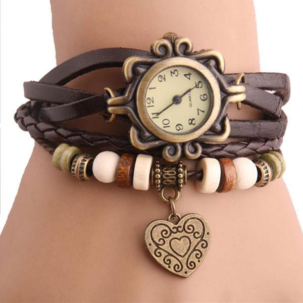 Heart Shape Bracelet Wristwatch for Women women watch BANFIY USA