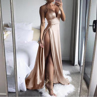 High-Split Maxi Sexy Women Sleeveless Long dress Ladies Dress BANFIY USA