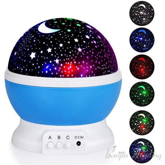 LED Rotating Night Light Projector For Kids Room LED Night light BANFIY USA Blue