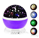 LED Rotating Night Light Projector For Kids Room LED Night light BANFIY USA Purpel