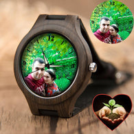 Lovers UV Printing Wooden Watches Photo watch BANFIY USA