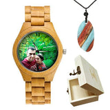 Lovers UV Printing Wooden Watches Photo watch BANFIY USA bamboo watch boxgift