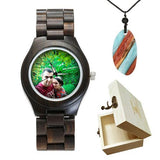 Lovers UV Printing Wooden Watches Photo watch BANFIY USA black watch gift box