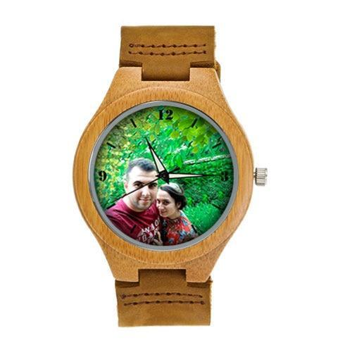 Lovers UV Printing Wooden Watches Photo watch BANFIY USA brown watch