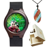Lovers UV Printing Wooden Watches Photo watch BANFIY USA watch box gift