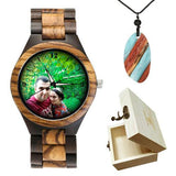 Lovers UV Printing Wooden Watches Photo watch BANFIY USA zebra watch box gift