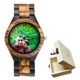 Lovers UV Printing Wooden Watches Photo watch BANFIY USA zebra watch with gif