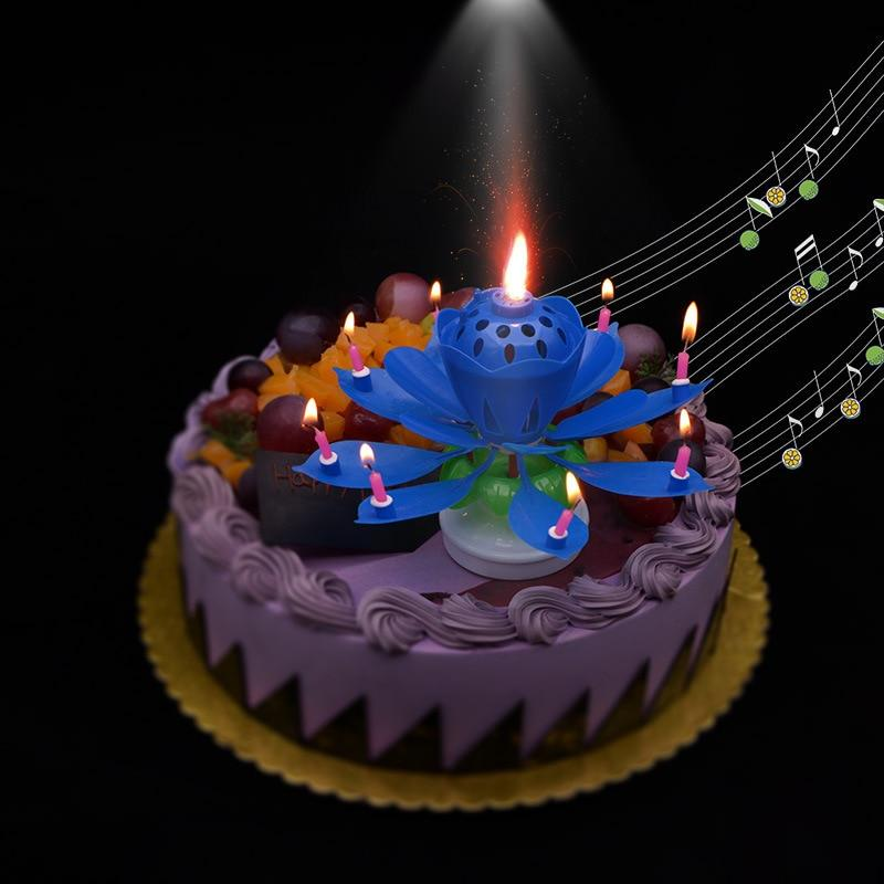 Magic Musical Birthday Candle Lotus Flower