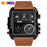 Men Wrist Watch Luxury Brand Military shape Men Watch Banfiyusa Black Brown Belt