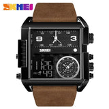 Men Wrist Watch Luxury Brand Military shape Men Watch Banfiyusa Black Coffee Belt